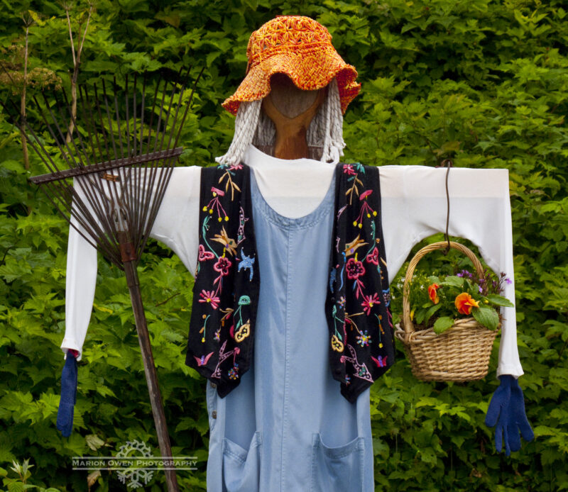 Kodiak, Alaska, garden, gardening, organic, scarecrow, vegetables, Peary, diet, food