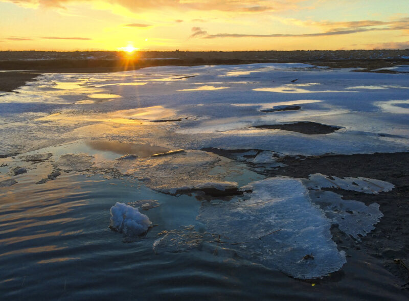 Alaska, Kodiak, photographer, photography, landscape, iPhone photo, picture, photo, camera, sunrise, ice, river, winter