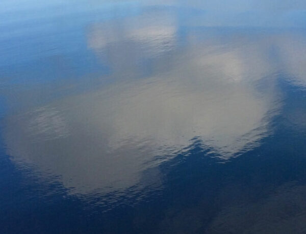 clouds reflecting on the ocean