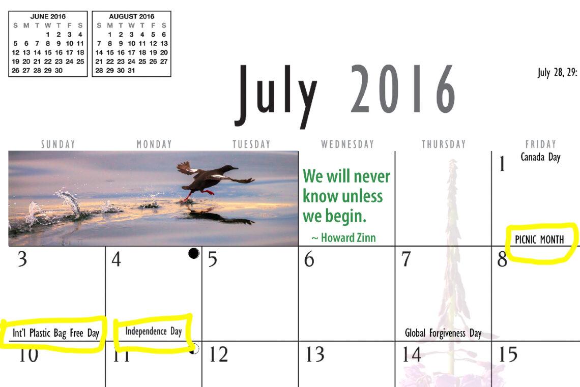 Wall calendar, Kodiak, Alaska, Marion, Owen
