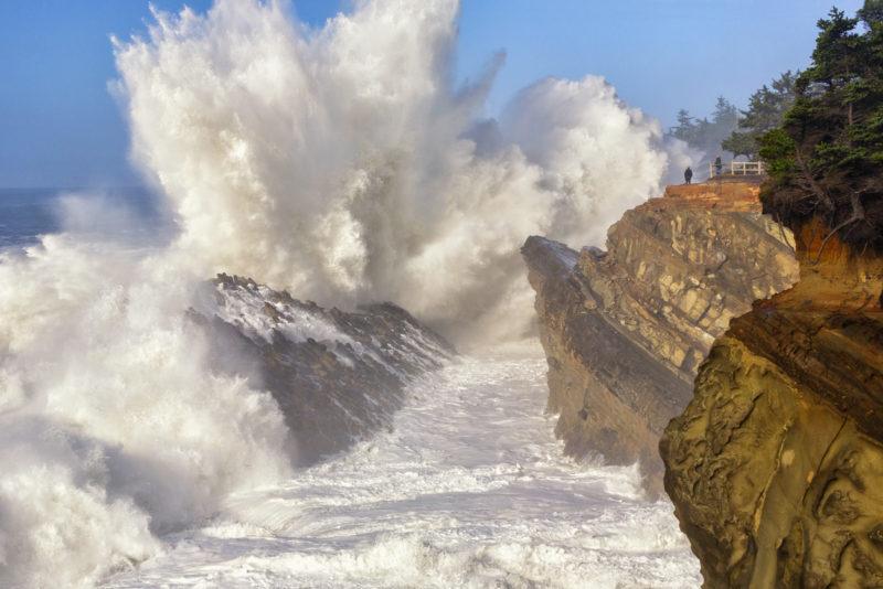 Storm waves, Oregon,