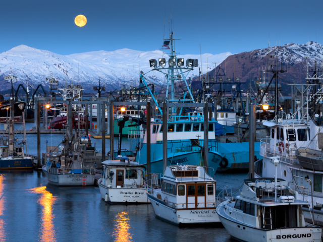 Kodiak, Alaska, moon, full moon, moonrise, photography, photographs