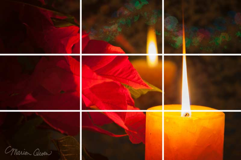 Candle, rule of thirds, composition