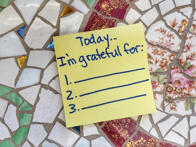 grateful, sticky note