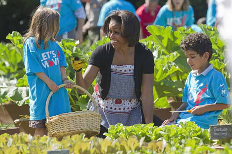 Michelle Obama, organic gardening
