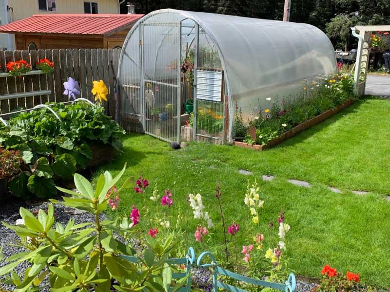 Marion Owen's summer garden in Kodiak, Alaska